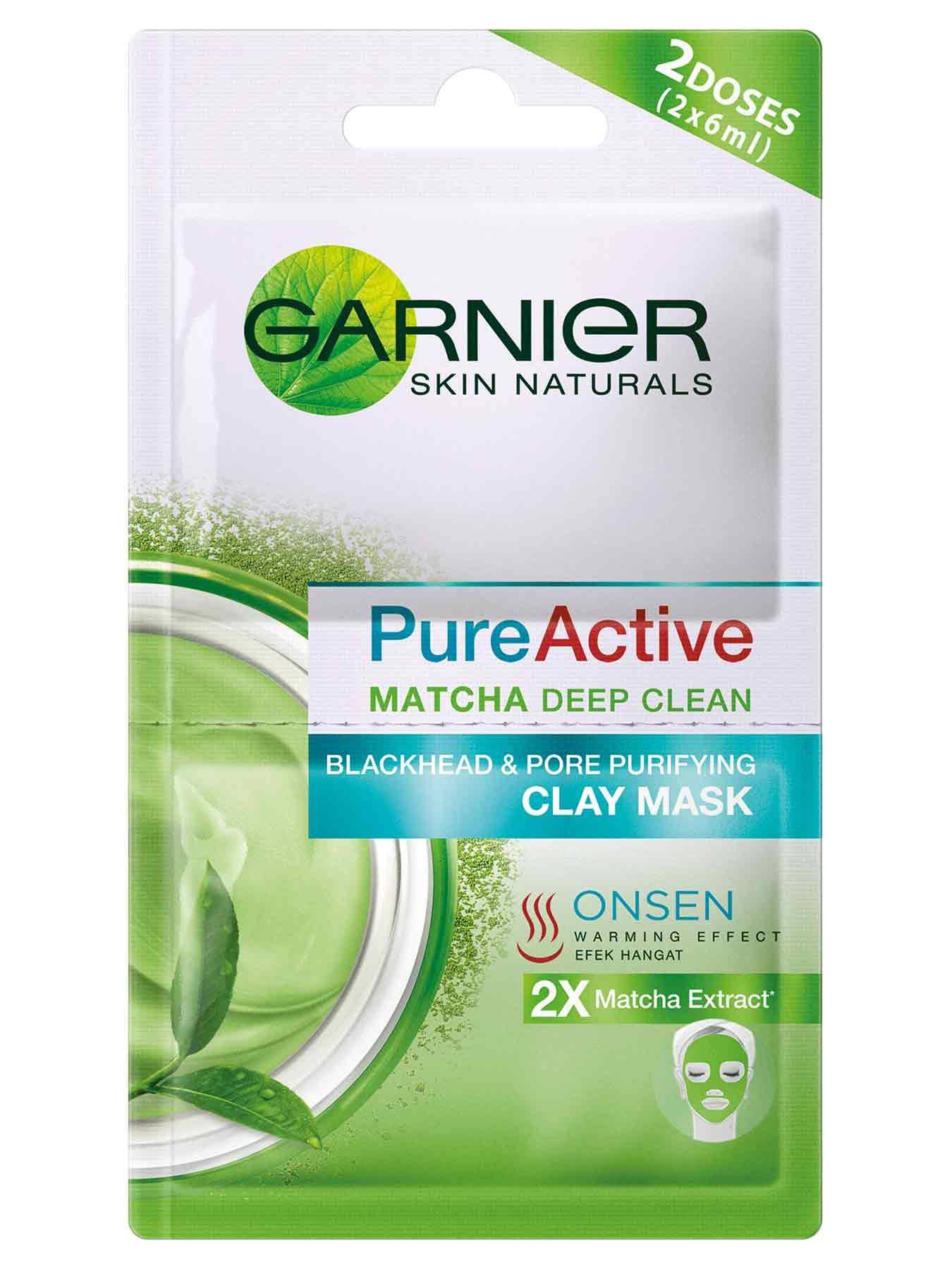 Garnier-Pure-Active-Matcha-Onsen-Clay-Mask
